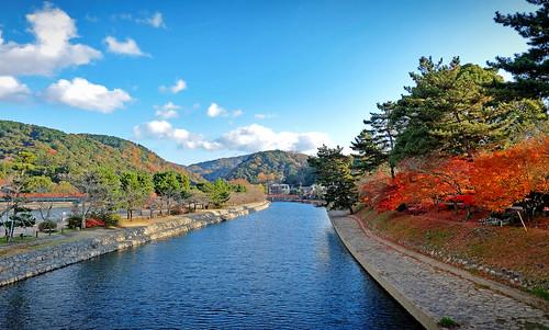 uji kyoto autumn landscape japan 宇治 宇治市 京都 秋 日本 宇治川 関西 river
