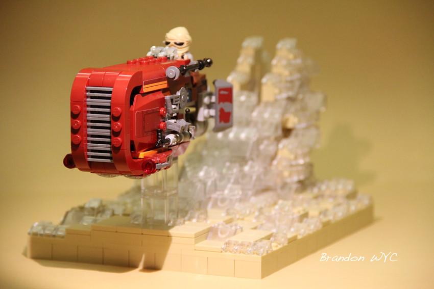 Lego Star Wars Moc Rey Speeder Zooming Across The Desert Flickr
