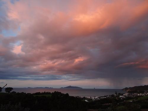 sunset clouds beach waipu new zealand nouvellezélande