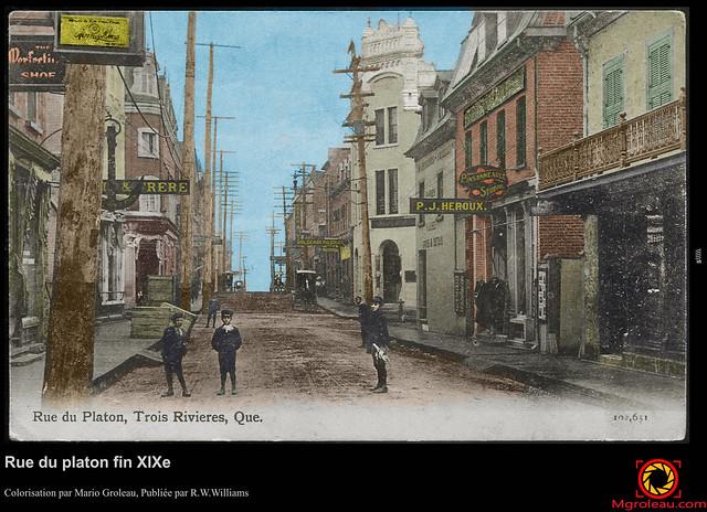Rue du platon fin XIXe