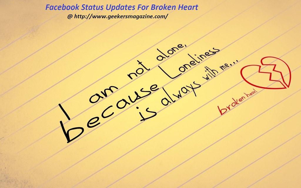 Heart broken status for facebook