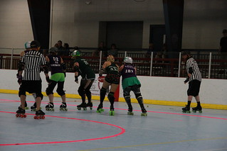 Punchy Brewsters vs. Naughty Pines Derby Dames   by David Gravee