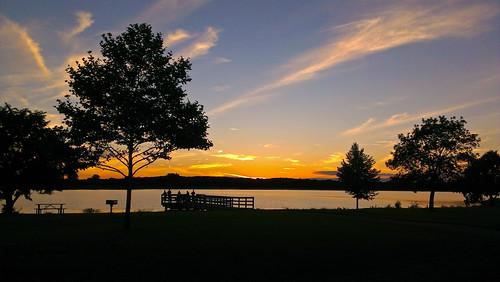 park sunset summer sky lake evening dusk michigan stonycreekmetropark washingtontownship