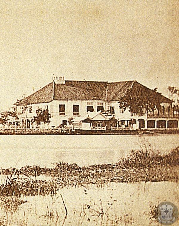 The earliest-known photograph of Malacañan Palace