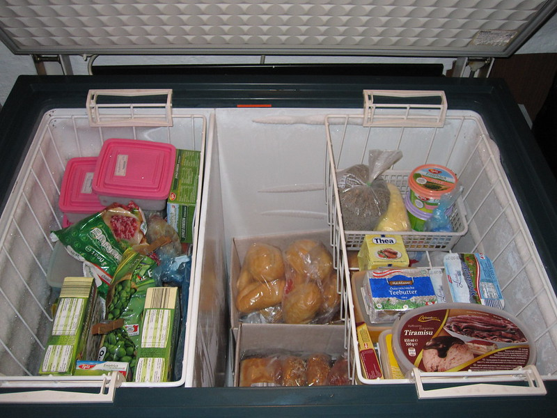 Freezer full groceries