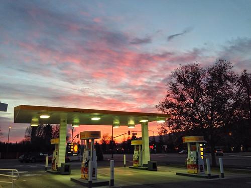 sunrise gasstation hdr