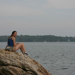 Emily on a rock