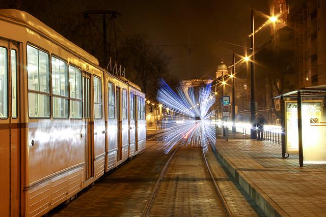 Christmas tram in Budapest 29