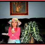 Violet's Home made Easter Bonnet, for school