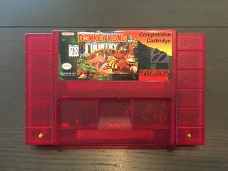 Donkey Kong Country Competition Cartridge SNES reproduction | by Ryan Finnie