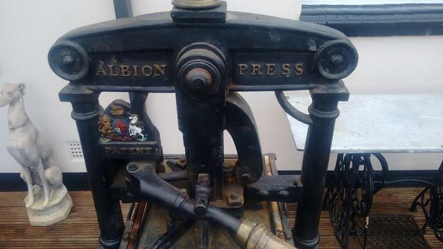 Letterpress - 1863 Albion press by Wood & Co.