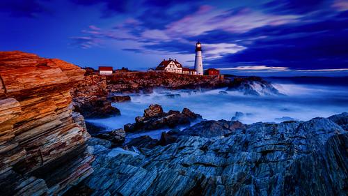 light usa lighthouse sunrise canon portland day unitedstates cloudy head maine places getty northamerica 169 phl 6d capeelizabeth portlandhead