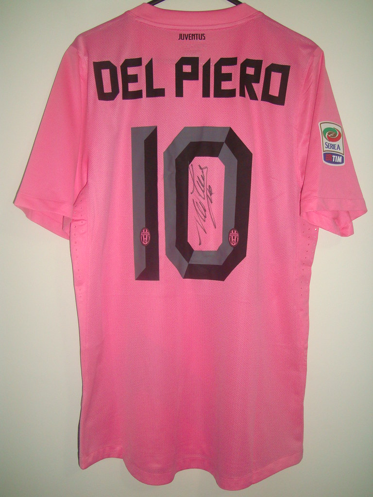 size 40 73157 d82ce Juventus Away Pink 2011/2012 Del Piero #10 Match Issued Je ...