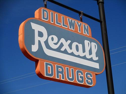 rexall drugstore sign dillwyn buckinghamcounty virginia