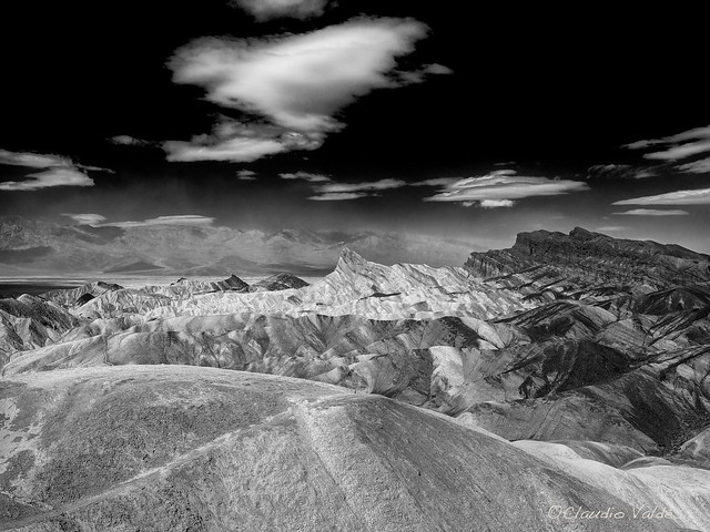 Zabriskie Point and the Distant Sandstorm