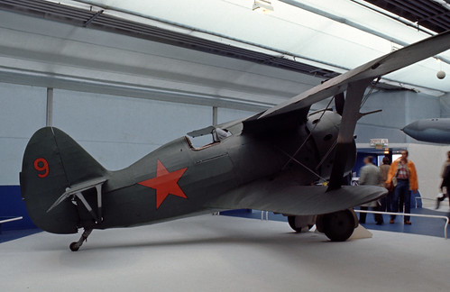 Polikarpov I-153 at the Musée de l' Air, Le Bourget 1977