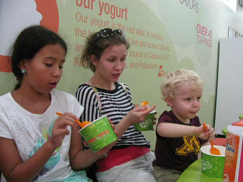 At Yogli Mogli | Eden, Lauren and Ethan enjoying frozen ...
