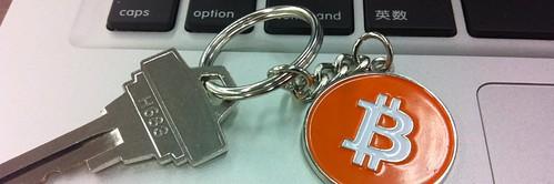 Bitcoin keychain/keyring and key
