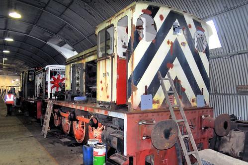 D1171 Hudswell Clarke 0-6-0DM  - Long Marston 23.03.13