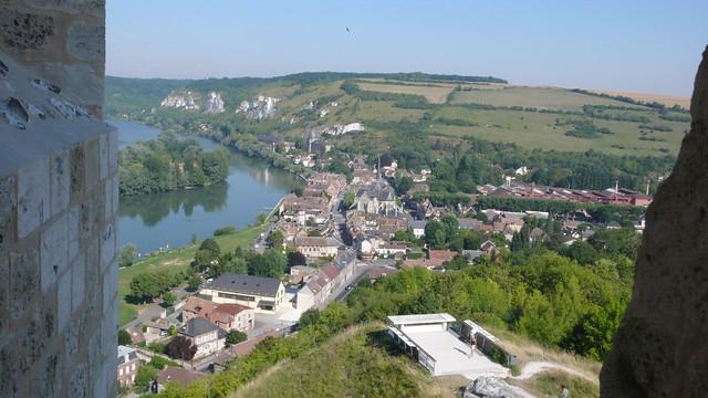 Les andelys vus de Chateau-Gaillard