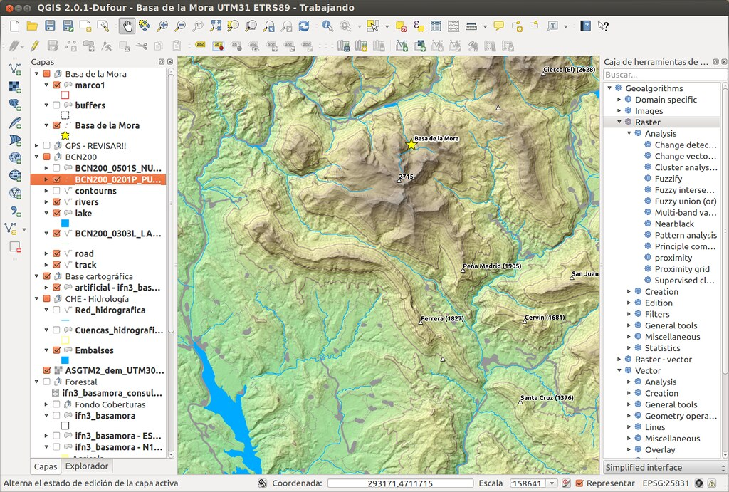 QGIS 2 0 1-Dufour - Basa de la Mora UTM31 ETRS89 - Screens… | Flickr