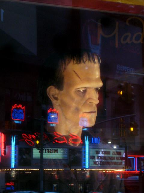 Wax Frankenstein s Monster on 42nd Street 2013 NYC 7000