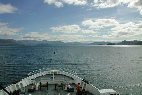 Ferry in Prince Rupert, West Coast of Northern British Columbia, Canada