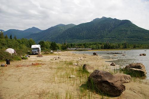 Clayoquot Arm Beach Recreation Site, Clayoquot Arm Provincial Park, Pacific Rim, Vancouver Island, British Columbia, Canada
