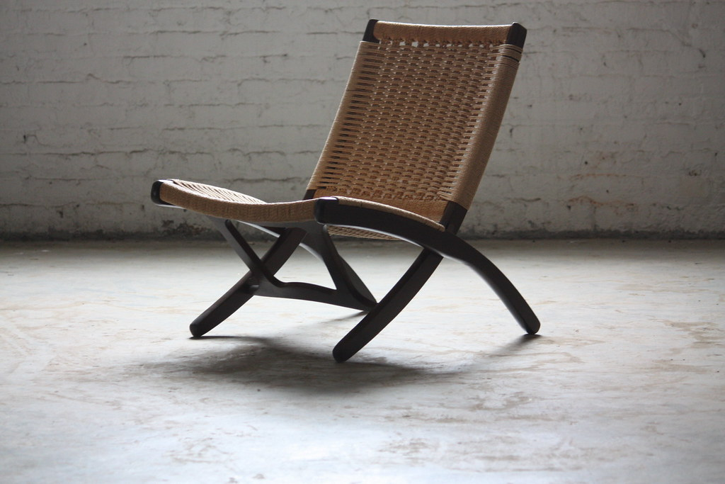 Phenomenal Pristine Mid Century Modern Woven Folding Rope Chair 1960 Ocoug Best Dining Table And Chair Ideas Images Ocougorg