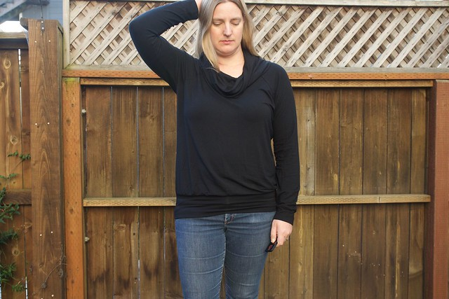 black cowl neck Lane Raglan 2