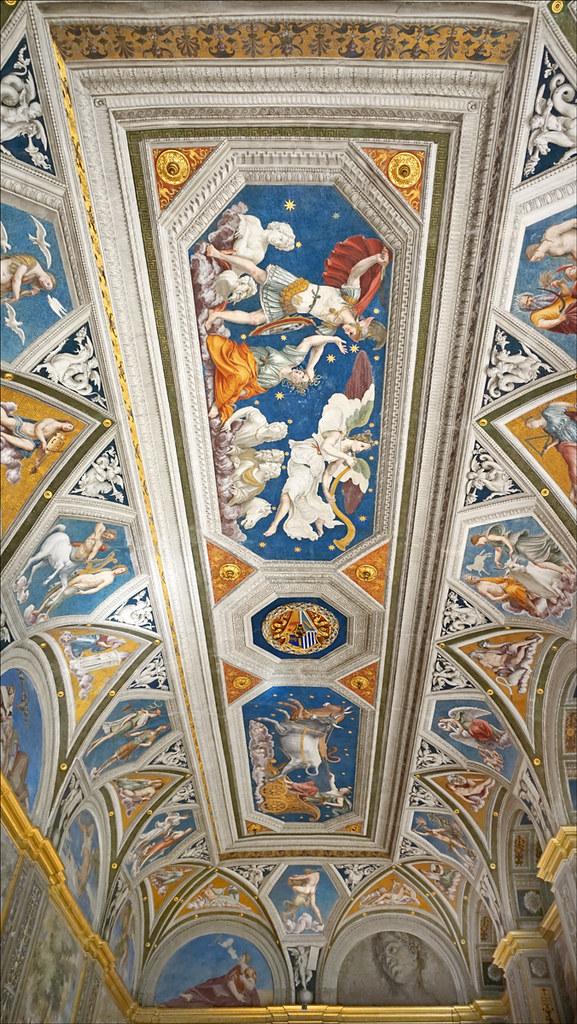 Le plafond de la loggia de Galatée (Villa Farnesina, Rome)