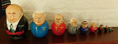 Russian political leaders as matroesjka puppets