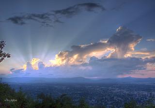 Smitten Sunset - From Mill Mountain Roanoke VA