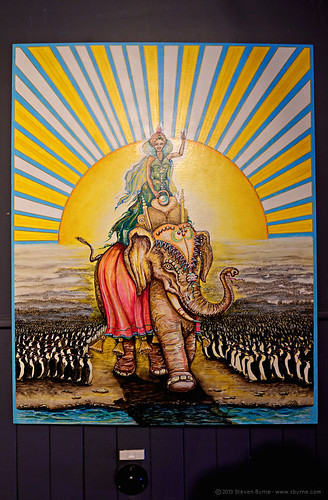 elephant sunrise painting penguins weird indian australia nsw mystic nimbin rx100