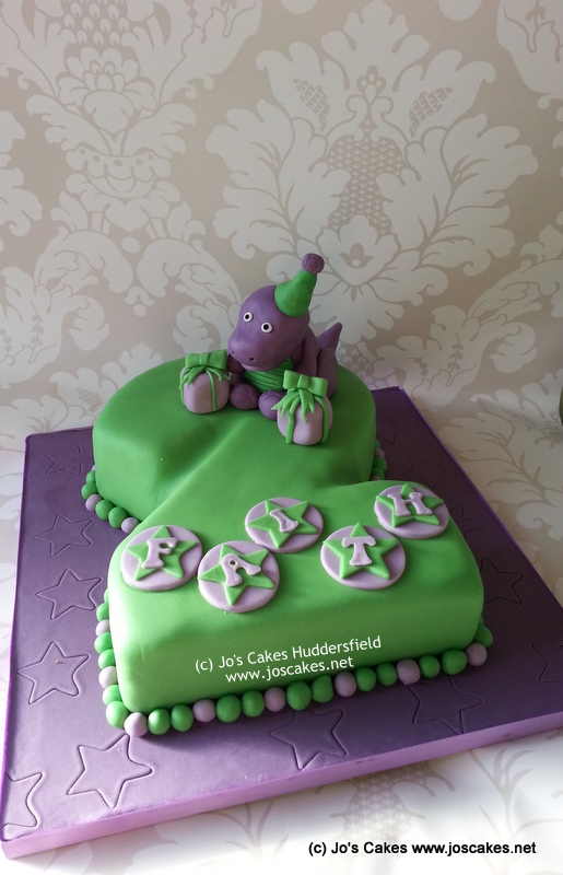 Wondrous Barney Themed 2Nd Birthday Cake 2 Shaped Cake With Hand Ma Flickr Personalised Birthday Cards Cominlily Jamesorg