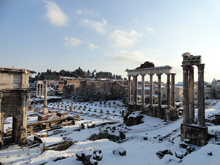 Snow-covered ruins | by augustinecollective
