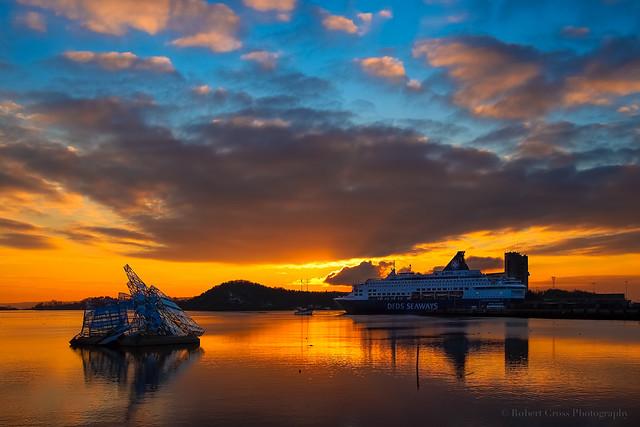 Sunset on the Oslofjord