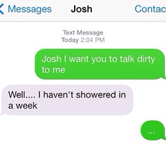 Dirty talking text messages