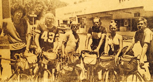TAWK518 Bikecentennial group in Greensburg KY July 21, 1976