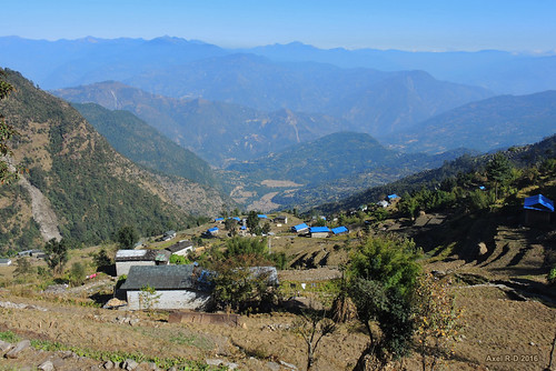 leblu montagnes nepal préci salyanvdc solukhumbu village