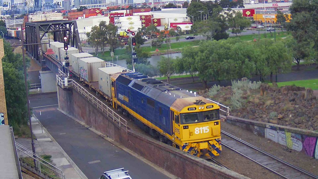 8115 dragging a long rake out on main line for a terminal shunting move from MFT by KKVCAM HD