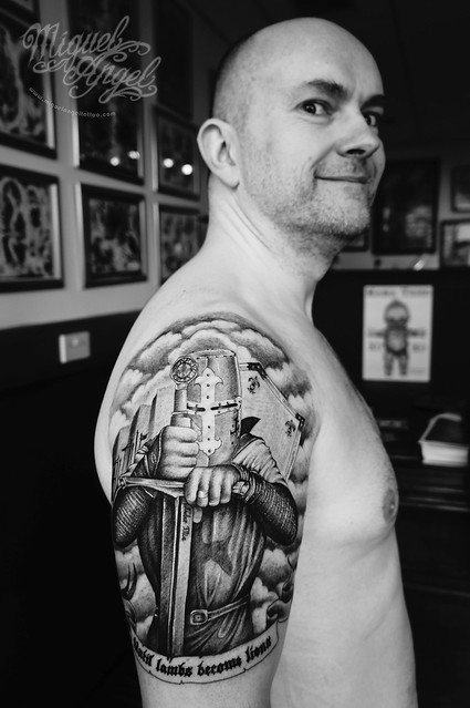 Custom Knight templar tattoo (the owner)