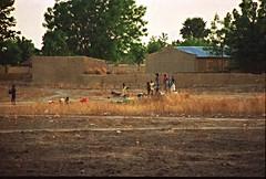 Dakar - Niger Railway. Bamako Mali to Dakar Senegal Train Ride April 1995 128 Village