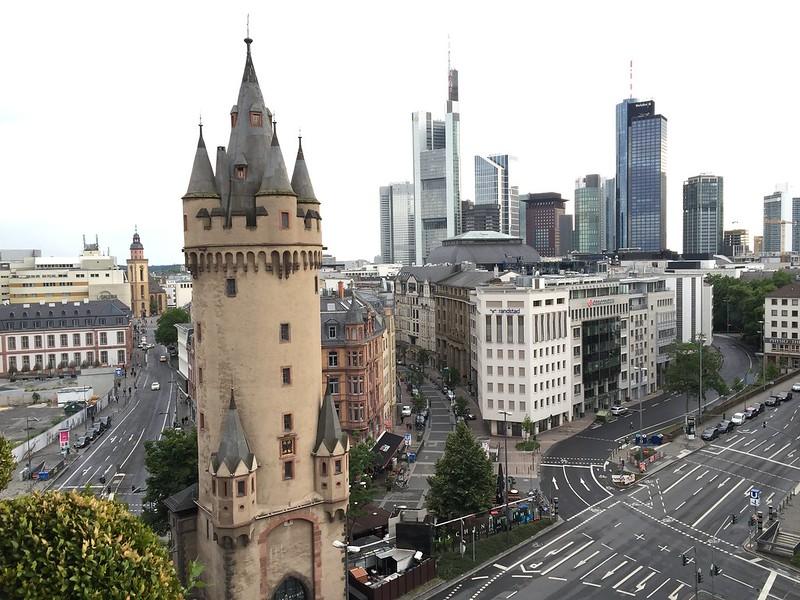 View of Eschenheimer Turm from Fleming's Club