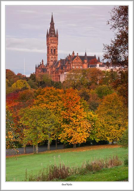 Autumnal Dawn At Glasgow University