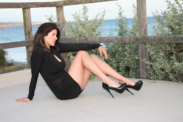 little black dress and heels