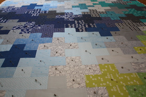 Kelsey's Manly plus Quilt Top   by Everyday Fray
