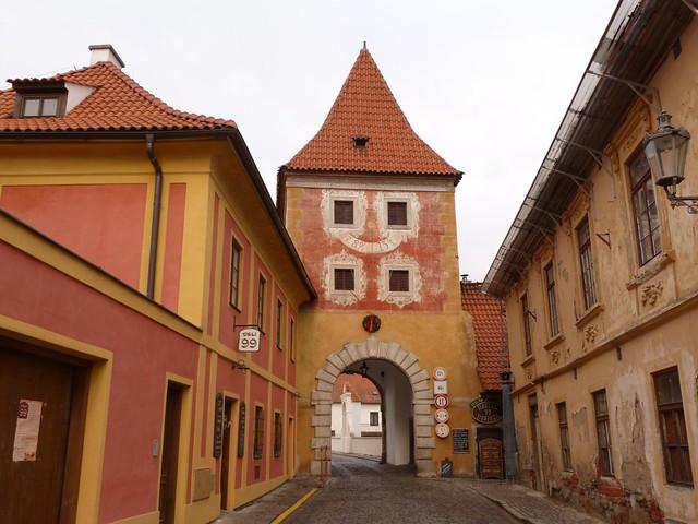 Puerta de České Budějovice en Cesky Krumlov (República Checa)