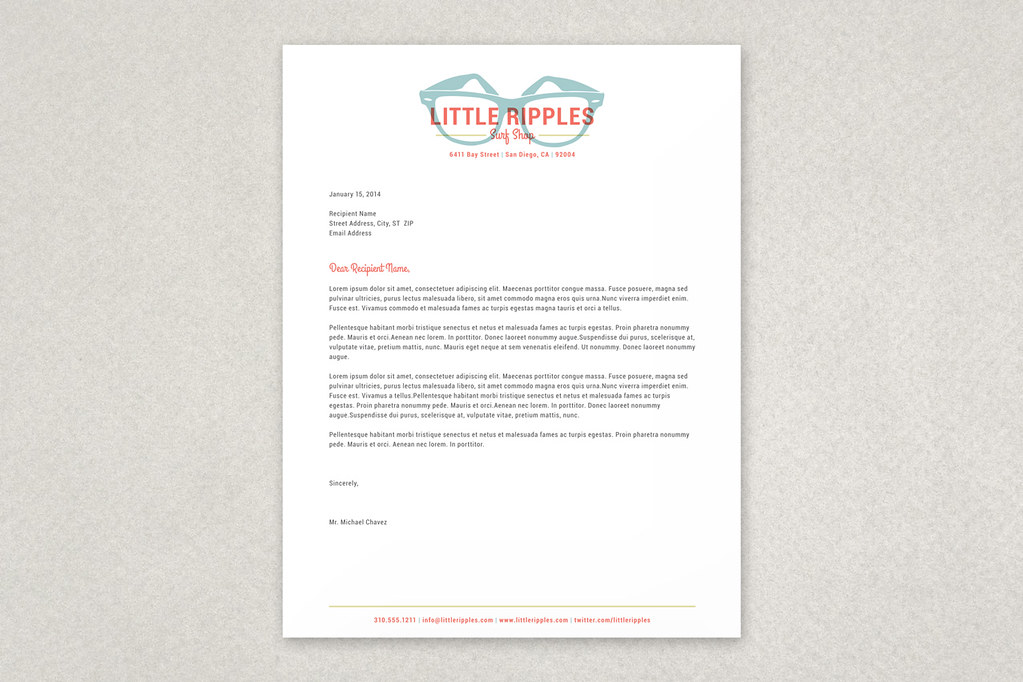 Surf Shop Letterhead Template | Inkd  com | Flickr