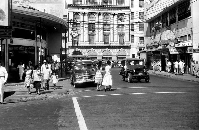 Escolta Street west end, Manila, Philippines 1950s (2)